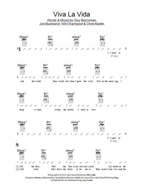 guitar tutorial viva la vida viva la vida sheet music direct