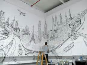 Artistic Wall Murals Artistic And Very Creative Kitchen Wall D 233 Cor