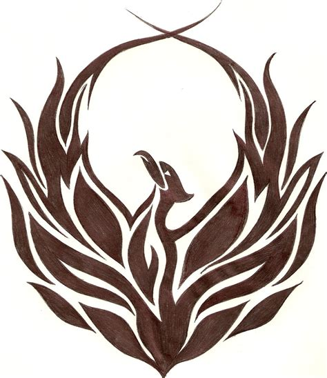 tribal phoenix tattoo the gallery for gt tribal bird logos