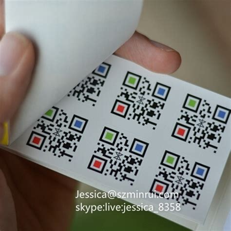printable stickers for qr codes custom self adhesive unique qr code print sticker ter