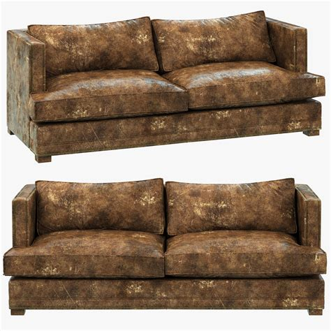 3d Model Restoration Hardware Easton Leather Sofa Leather Sofa Restoration Hardware
