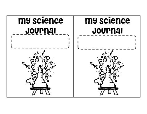 printable science journal kindergarten science journal cover pdf kindergarten pinterest