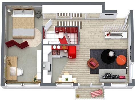1 Room Apartment Floor Plans - 1 bedroom apartment floor plan roomsketcher