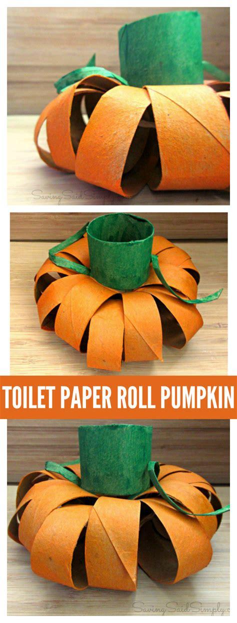 Toilet Paper Pumpkin Craft - craft toilet paper roll pumpkin raising