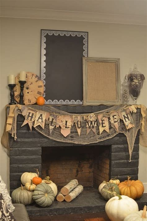 halloween home decorations 44 cozy rustic halloween decor ideas digsdigs