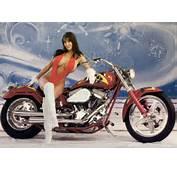 Harley Davidson Sexy Hot Girls  Bikini Girl On Custom