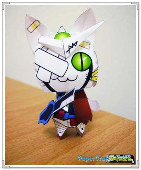 Gundam Exia Papercraft - anime cat x gundam exia repair papercraft