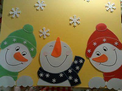 Fensterdeko Weihnachten Schneemann by Fenstergucker Schneem 228 Nner Fensterbilder Tonkarton