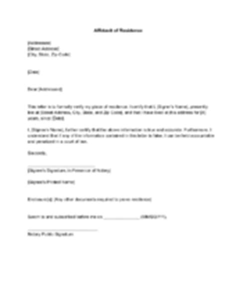 Proof Of Residency Letter From Parent How To Write A Letter For Proof Of Residence With Sle Letter