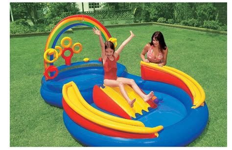 backyard toys for kids outdoor toys for kids rainbow ring inflatable water slide