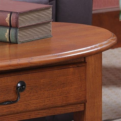 leick shaker coffee table leick furniture shaker oval coffee table in medium oak