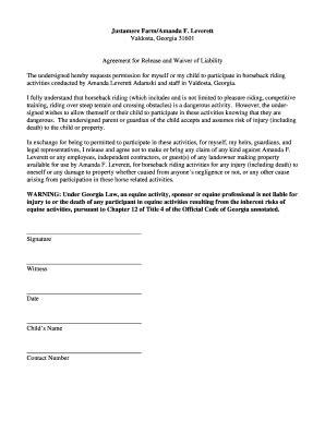 Bill Of Sale Form Georgia Horseback Riding Liability Release Form Templates Fillable Horseback Waiver Template