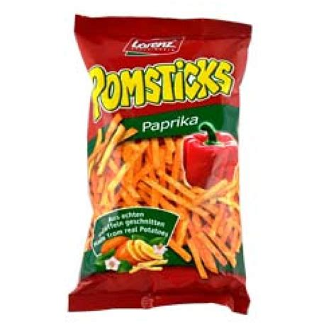 lorenz pomsticks paprika 100g approved food