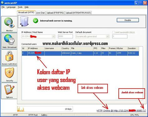 membuat video streaming online membuat server live video streaming webcam menjadi cctv