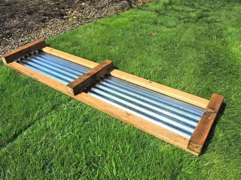 Raised Vegetable Garden Beds Corrugated Iron Galvanized Raised Beds Side Of The Frame And The