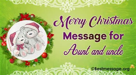 awesome merry christmas wishes  dearest aunt  uncle