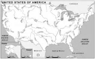 usa rivers map black and white rivers map of usa black