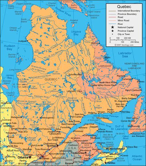 Quebec Canada Map quebec map amp satellite image roads lakes rivers cities