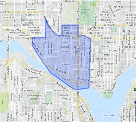 seattle map fremont phinney avenue townhouse stroupe luxury real estate