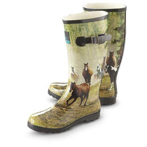 rubber boots womens s itasca pony rubber boots 162939
