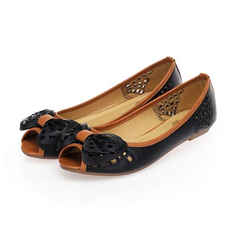 Comfortable Peep Toe Shoes new leroy s comfortable knot peep toe flats
