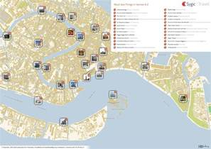 Venice Italy Map by Venice Italy Tourist Attractions Map