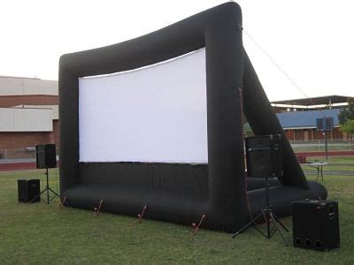 inflatable backyard movie screen columbus inflatable outdoor movie screen rental