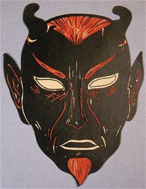 extra creepy vintage devil pumpkin carving template