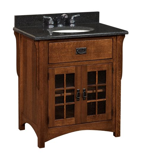 amish bathroom vanities amish 33 quot lancaster mission single bathroom vanity cabinet