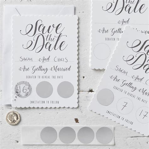 wedding save the date scratch cards uk white scratch and reveal save the date cards pack of 10 wedding and store wedding
