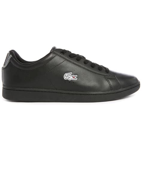 lacoste low top sneakers lacoste canarby black low top sneakers in black for lyst