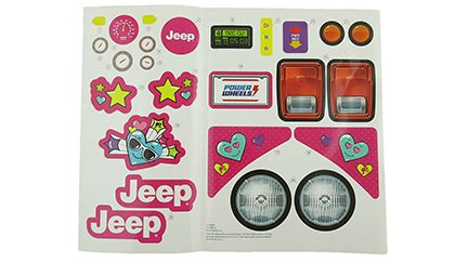 Fisher Price Power Wheels Replacement Stickers