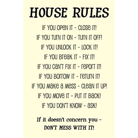 house rules home design pin printable open sign on pinterest