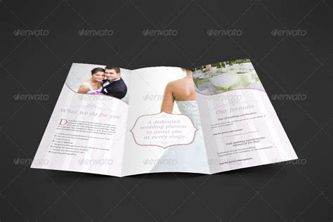 Wedding Menu Brochure by Wedding Planner Trifold By Niklofr Graphicriver