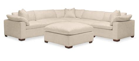victory sectional plush 6 pc sectional in victory ivory american