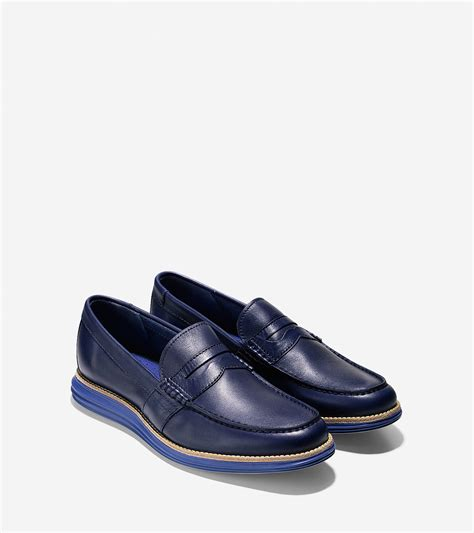 cole haan blue loafers cole haan lunargrand loafer in blue for lyst