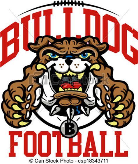 vector clip art of bulldog football design csp18343711