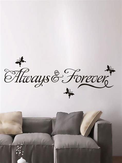 custom wall stickers words wall stickers black letter words removable living room