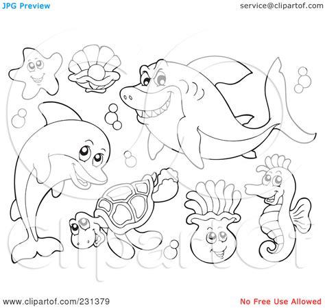 sea animal coloring pages printable free zurwehme org
