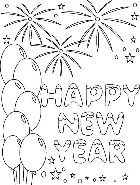 new year s coloring pages happy new year coloring