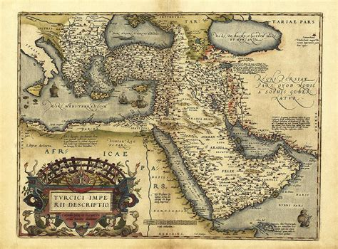 Geography Of The Ottoman Empire Ortelius S Map Of Ottoman Empire 1570 Photograph By Library Of Congress Geography And Map Division