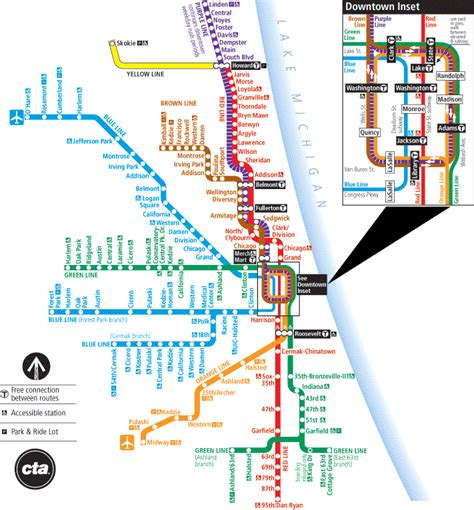 chicago l map blue line chicago map stop