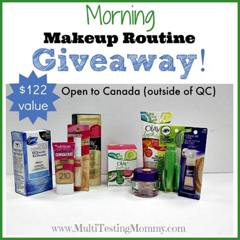Free Makeup Giveaways 2014 - your morning makeup routine