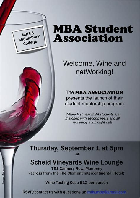 Wine Mba by Join The Mbasa Thursday 9 1 For A Wine Tasting To Kick