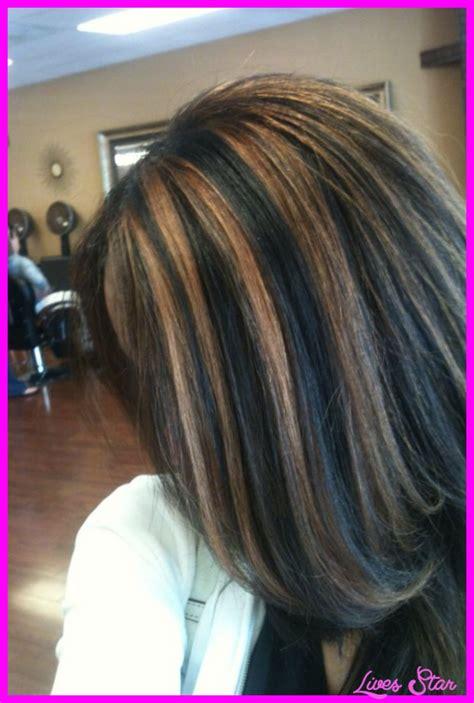 hairstyles dark brown with caramel highlights black hair caramel highlights livesstar com