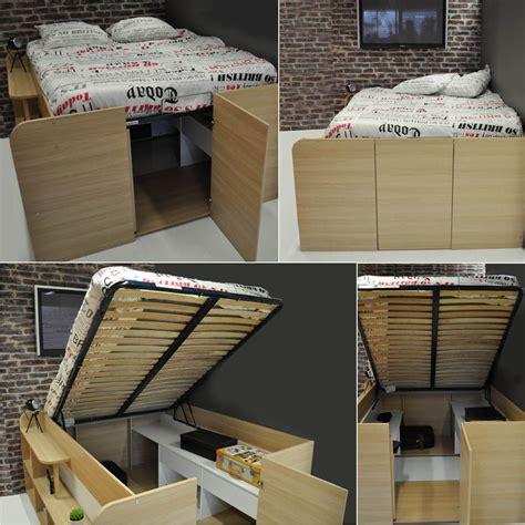 Lit Rangements by Lit Coffre Compact Avec Rangements Studio Lit Coffre
