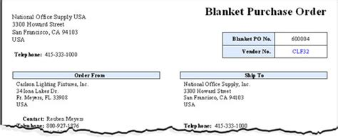 Purchase Order Letter Definition What Is Blanket Purchase Order Definition And Benefits Chief Procurement