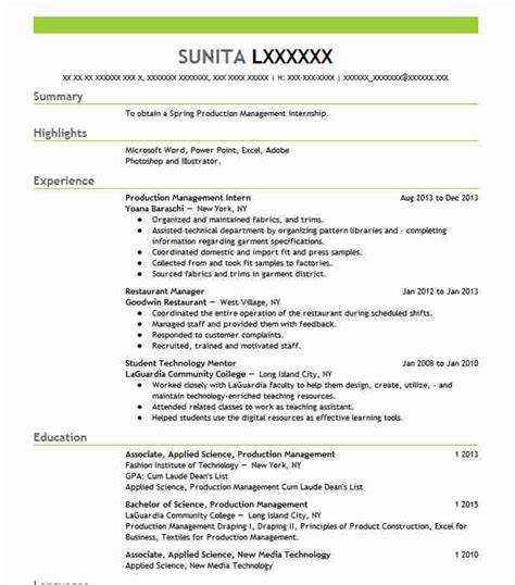 pattern maker resume template textile and apparel resume exles sles livecareer