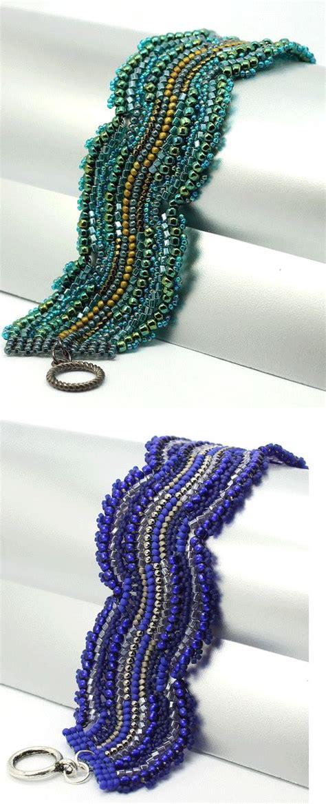 Alb Waves 3pattern free pattern blue wave bracelet craft inspiration patterns bracelets and blue