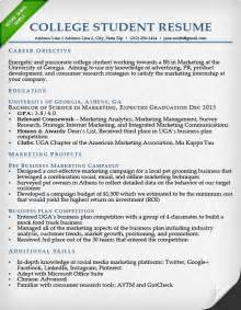 Sample College Student Resumes sample resumes for college students template idea